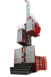 Double Cage Red Construction Material Hoists Box for Electric Power Plants