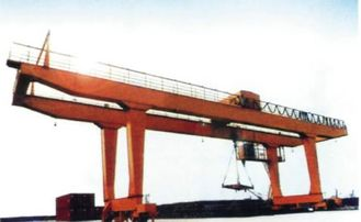 40t Double Girder Transtainer Gantry Electric Overhead Travelling Crane for Project